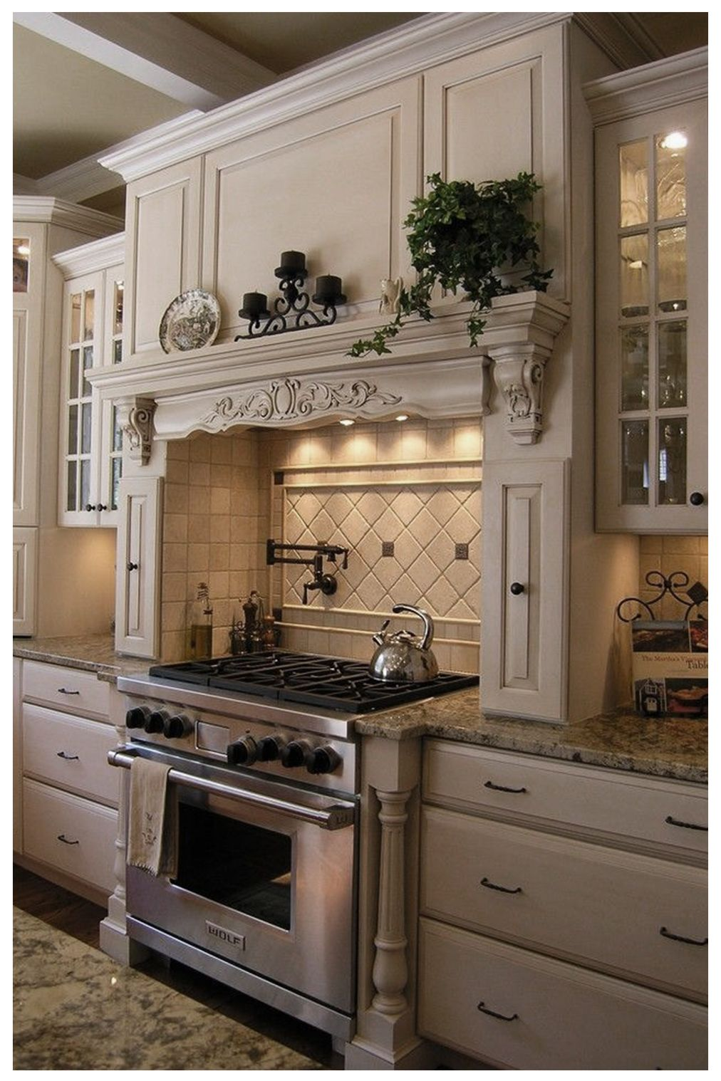 20 Insanely Beautiful Mediterranean Kitchen Design Elements Ideas In 2020 French Country Kitchen Cabinets French Country Decorating Kitchen French Country Kitchen