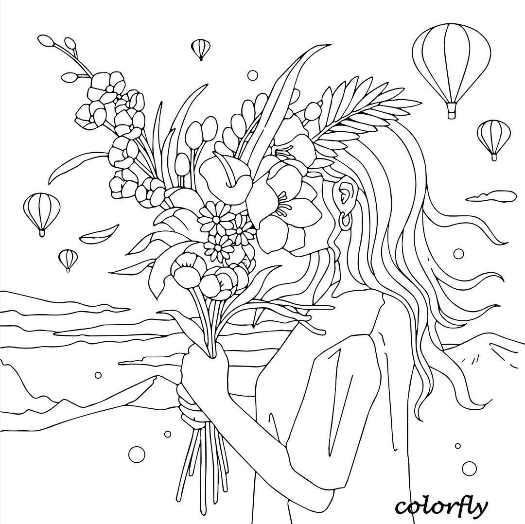 Colorfly Freebie Color Your Springbreak Travel Plan Up With Us You Now Can Download Coloring Pages For Girls Blank Coloring Pages Coloring Books