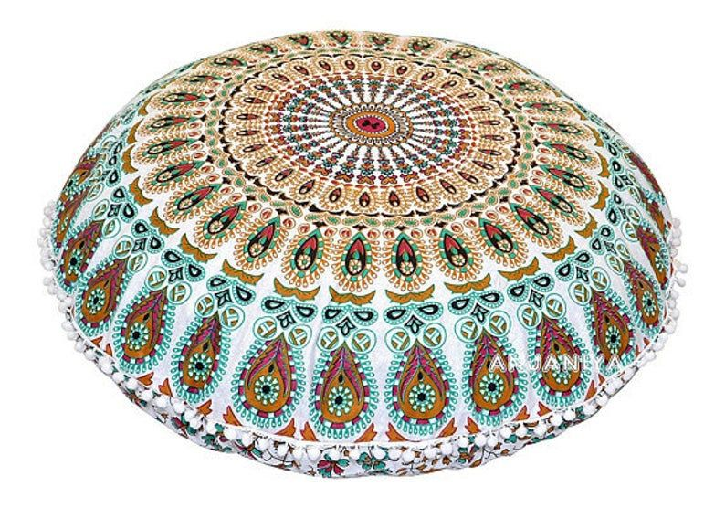 Floor Pillows, Outdoor Cushions, Mandala Pillow, Outdoor Pouf, Floor Seating Cushions, Decor Ideas - NO FILLER INCLUDED