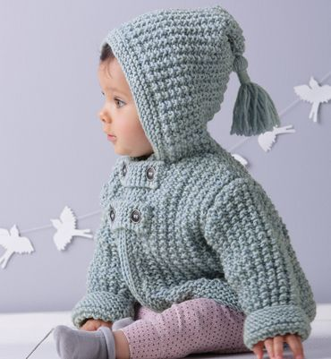 Modèle Paletot Pompon Layette Mode Pinterest Baby Stricken