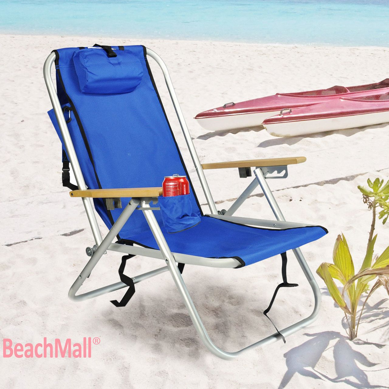 Beachmall deluxe wearever rio aluminum backpack chair