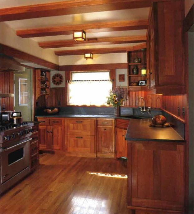 Love This Kitchen The Beams Wood Floors White Cabinets: Build Shallow Faux Beams Across The Kitchen Ceiling (paint Them White If You Don't Like The Look