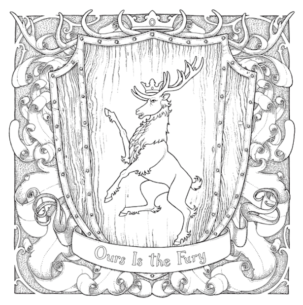 Game Of Thrones Coloring Book Baratheon