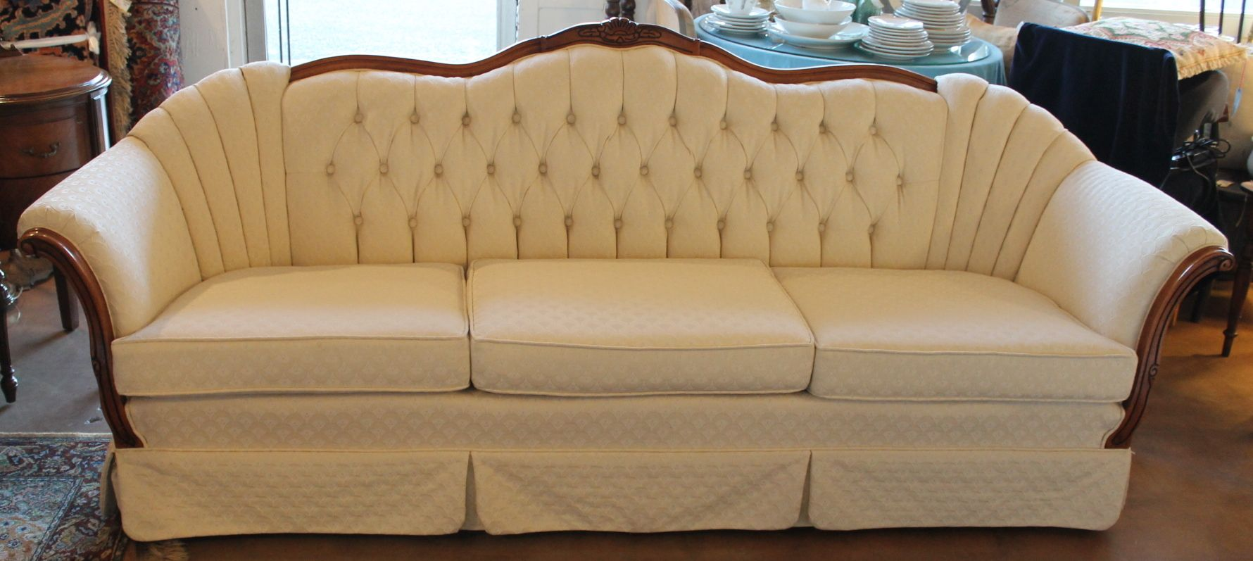 Formal French Provincial sofa by Kingsley Furniture
