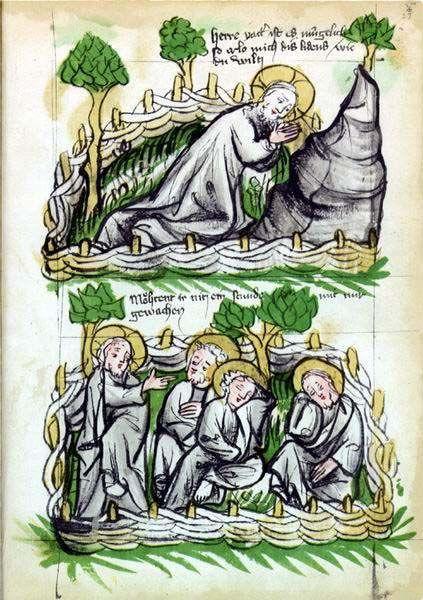 ENLUMINURE EVANGELIAIRE OTTON DD | Agony In The Garden | Pinterest ...