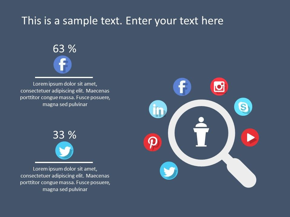 Social Media Marketing Powerpoint Template 6 Marketing Strategy