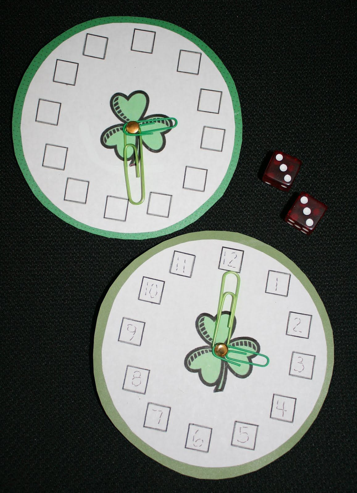 Pk2 Shamrocks On A Roll Telling Time Dice Game