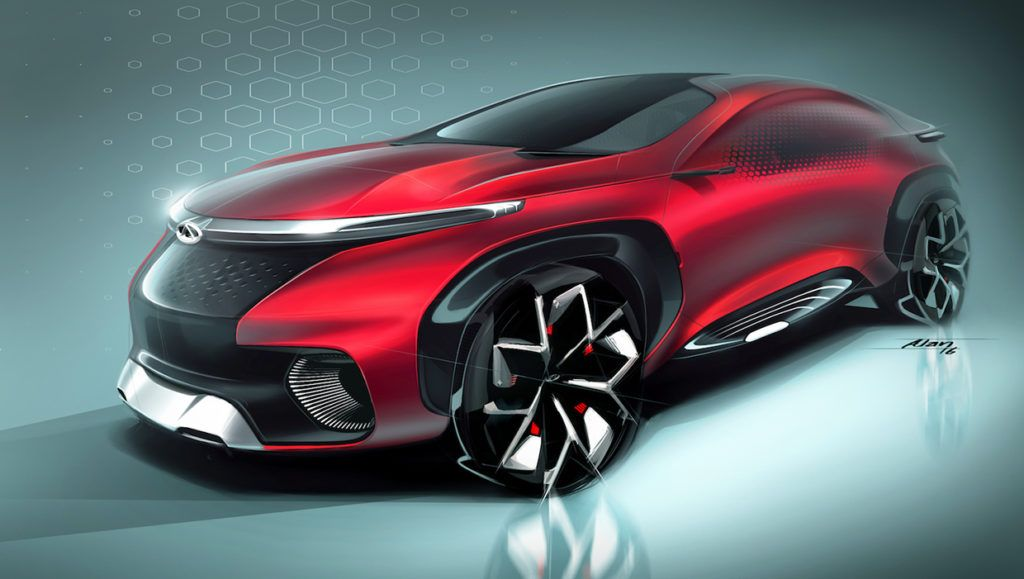 Chery FV2030 Concept front three quarters left side at