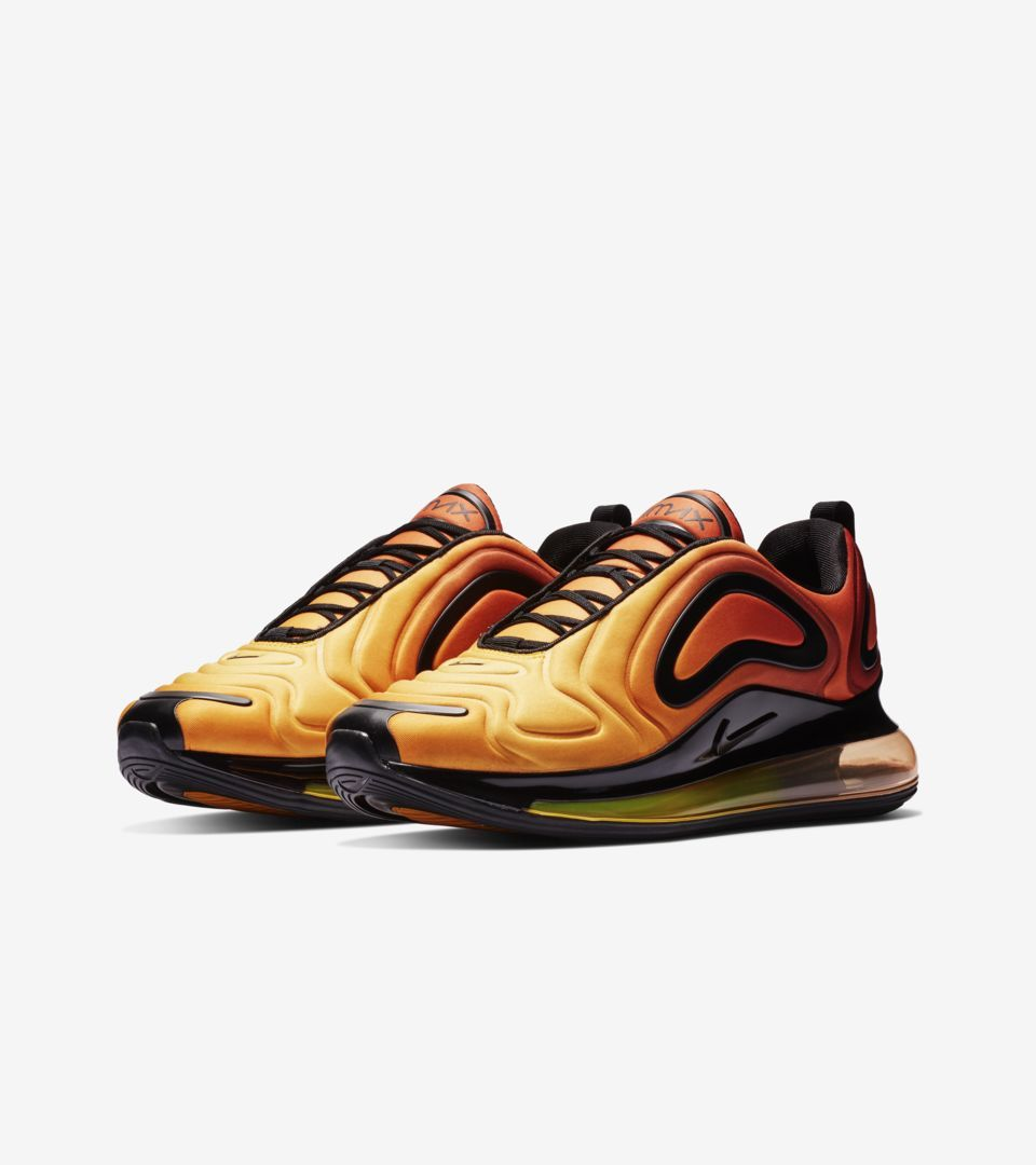 nike air max black orange yellow
