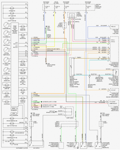 2002 Dodge Ram 1500 Fuel Pump Wiring Diagram | Trailer wiring diagram, Dodge  ram 1500, Dodge ram | 2002 Dodge Dakota Trailer Wiring Diagram |  | Pinterest