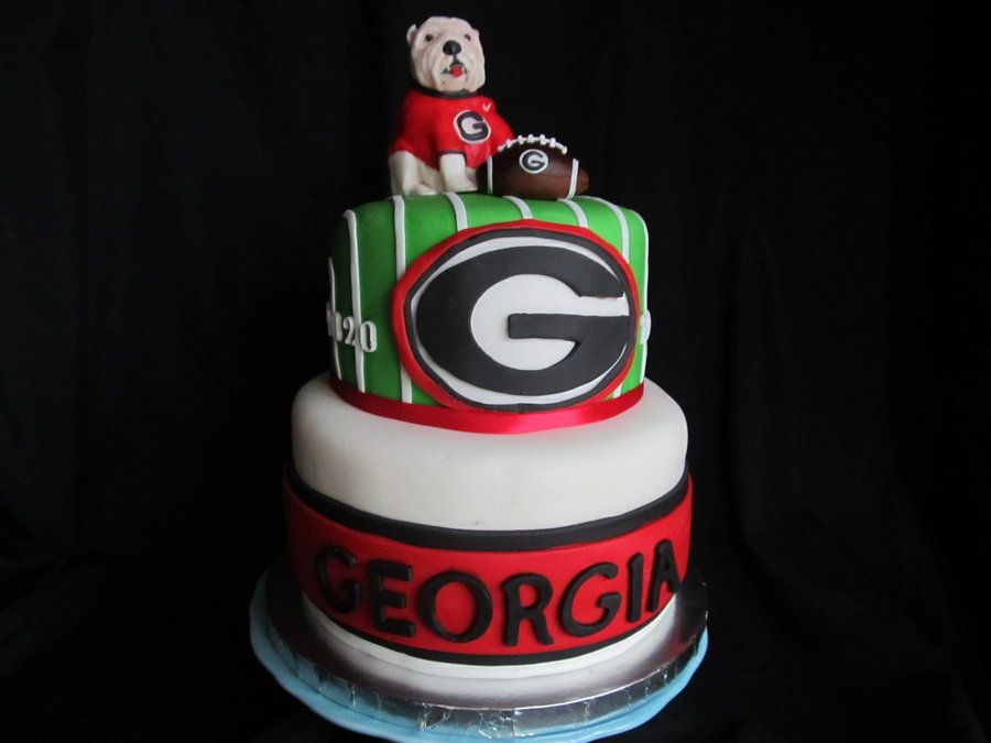 Fantastic Georgia Bulldogs Cake For Season Opener Bowl Games Georgia Funny Birthday Cards Online Elaedamsfinfo