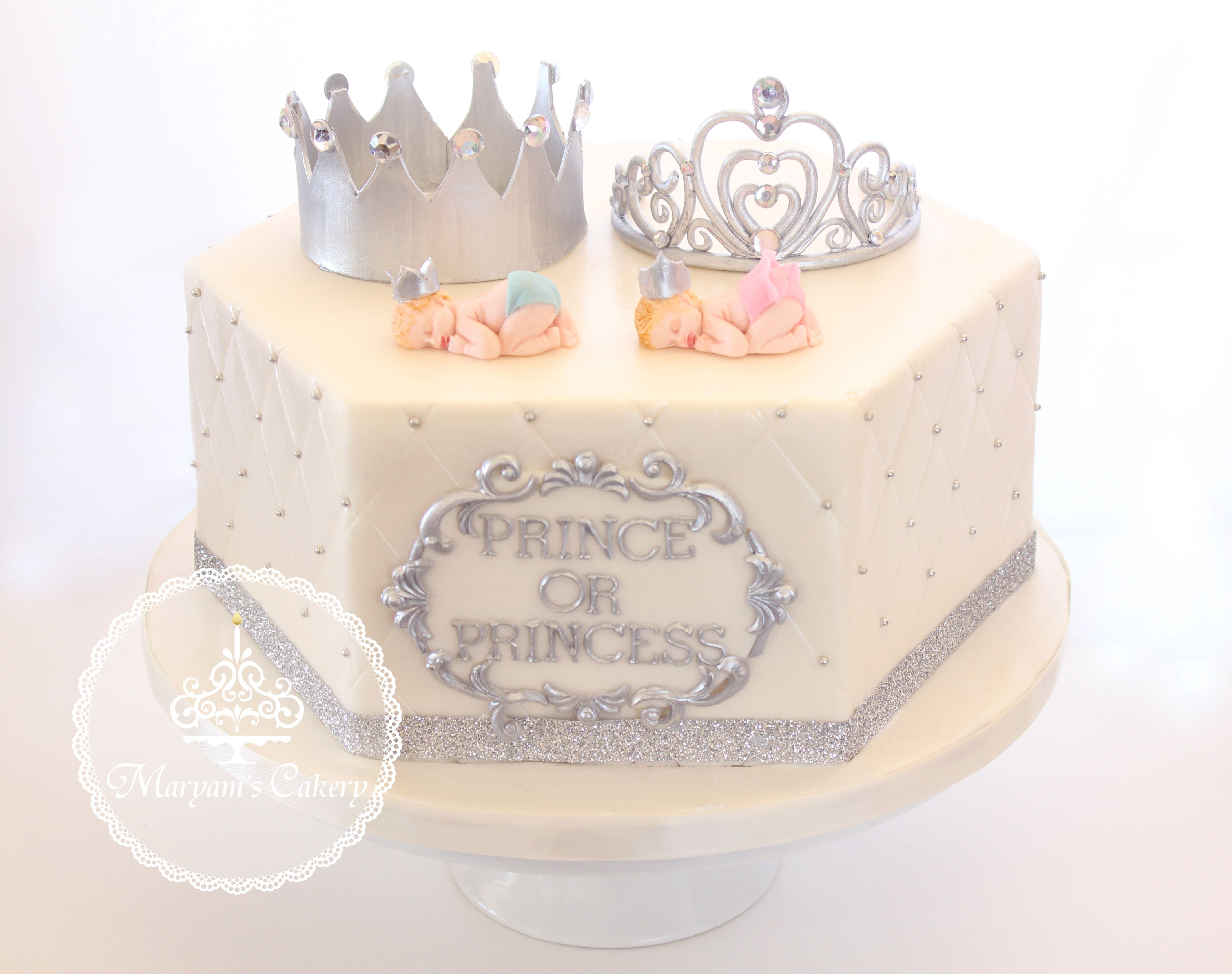 Gender Reveal Cake Prince Or Princess By Maryam S Cakery