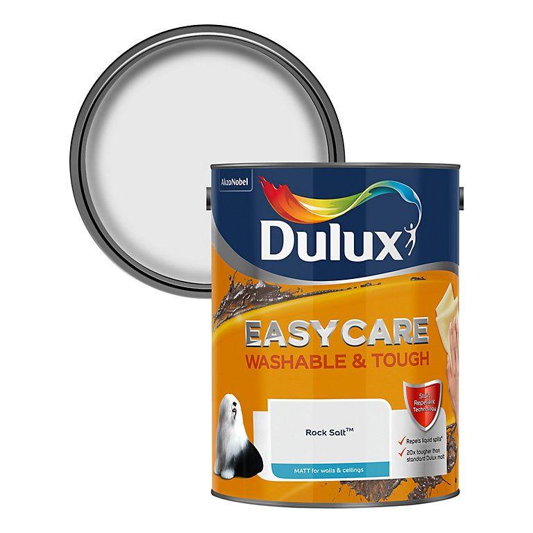 Dulux Easycare Rock Salt Matt Emulsion Paint 5L | Dulux paint, Dulux white  mist, Paint stain