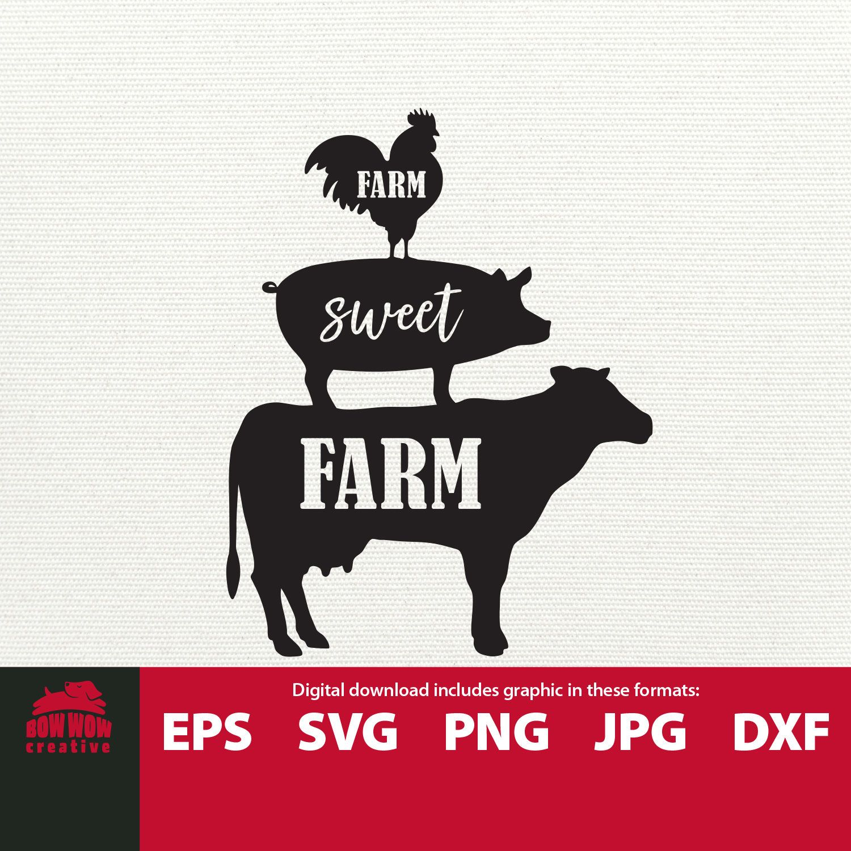 Farm Sweet Farm Svg Farm Animals Svg Stacked Animals Svg Etsy In 2021 Farm Fresh Milk Farm Animals Animal Cutouts