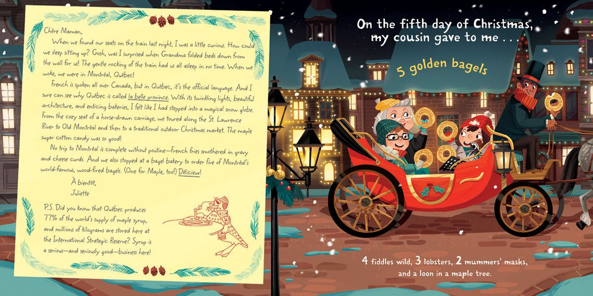 The Twelve Days of Christmas in Canada on Behance (With