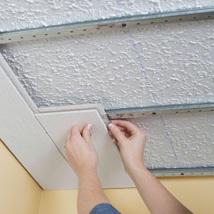 Install A Plank Ceiling Diy Ceiling Remodel Bedroom Basement Decor