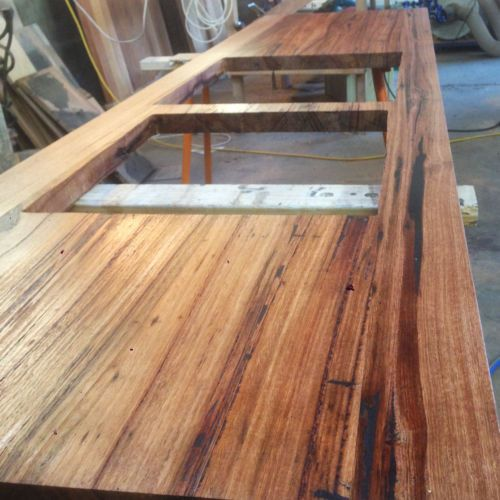 Wondrous Rustic Industrial Recycled Timber Bench Tops Kitchen Bar Bralicious Painted Fabric Chair Ideas Braliciousco