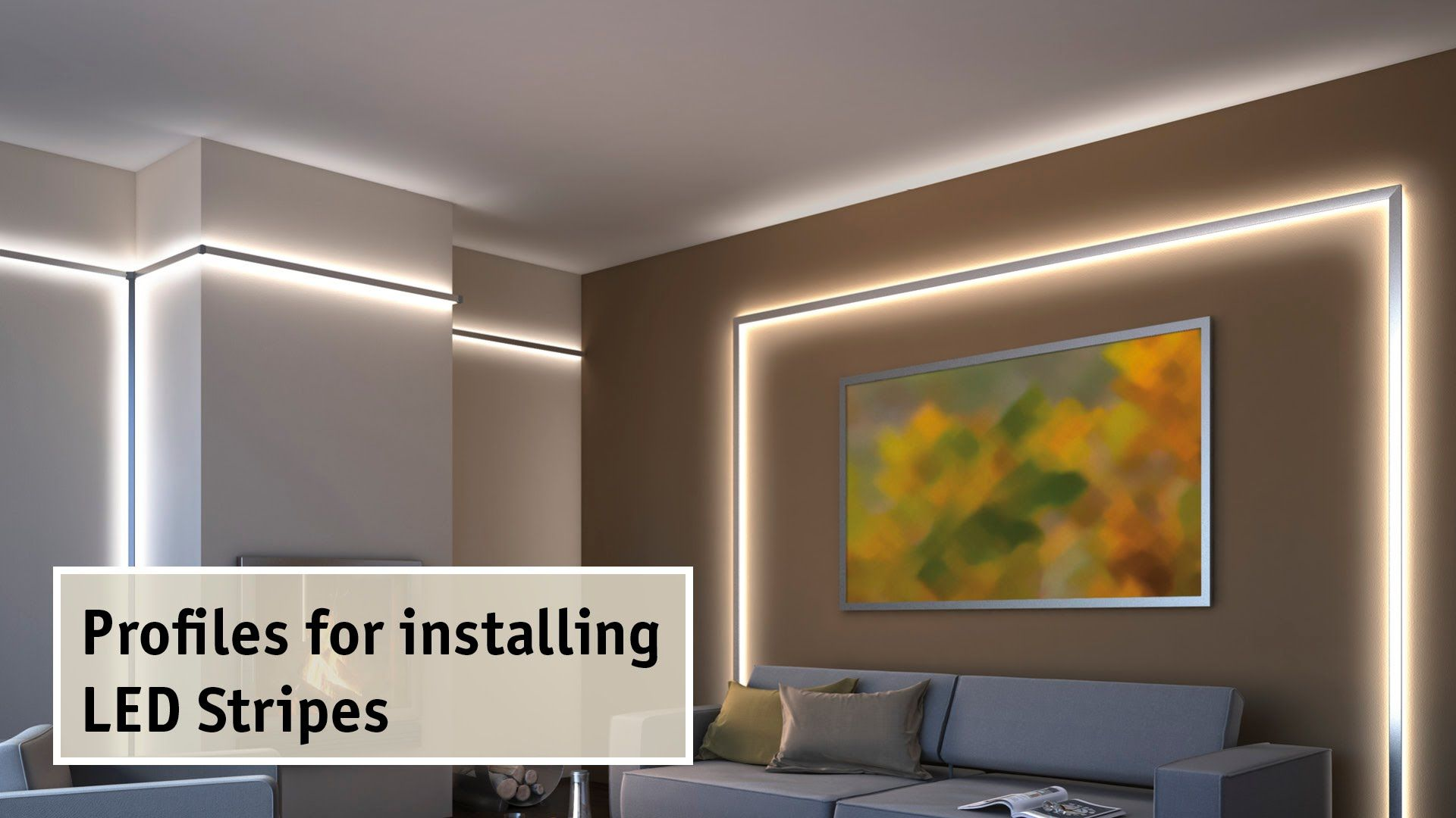 Aluminium Profiles For Indirect Lighting By Led Strips Very