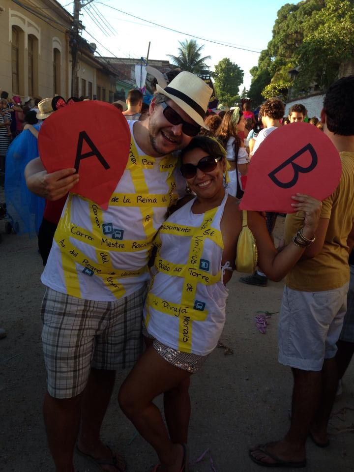Google Maps Costume For Carnival In Rio