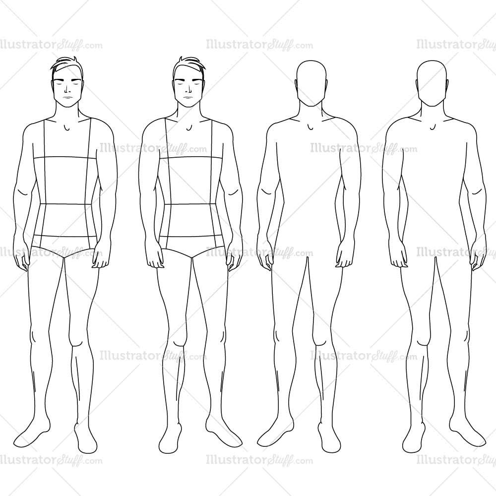 Male Fashion Croquis Template 249 IllySTUFF