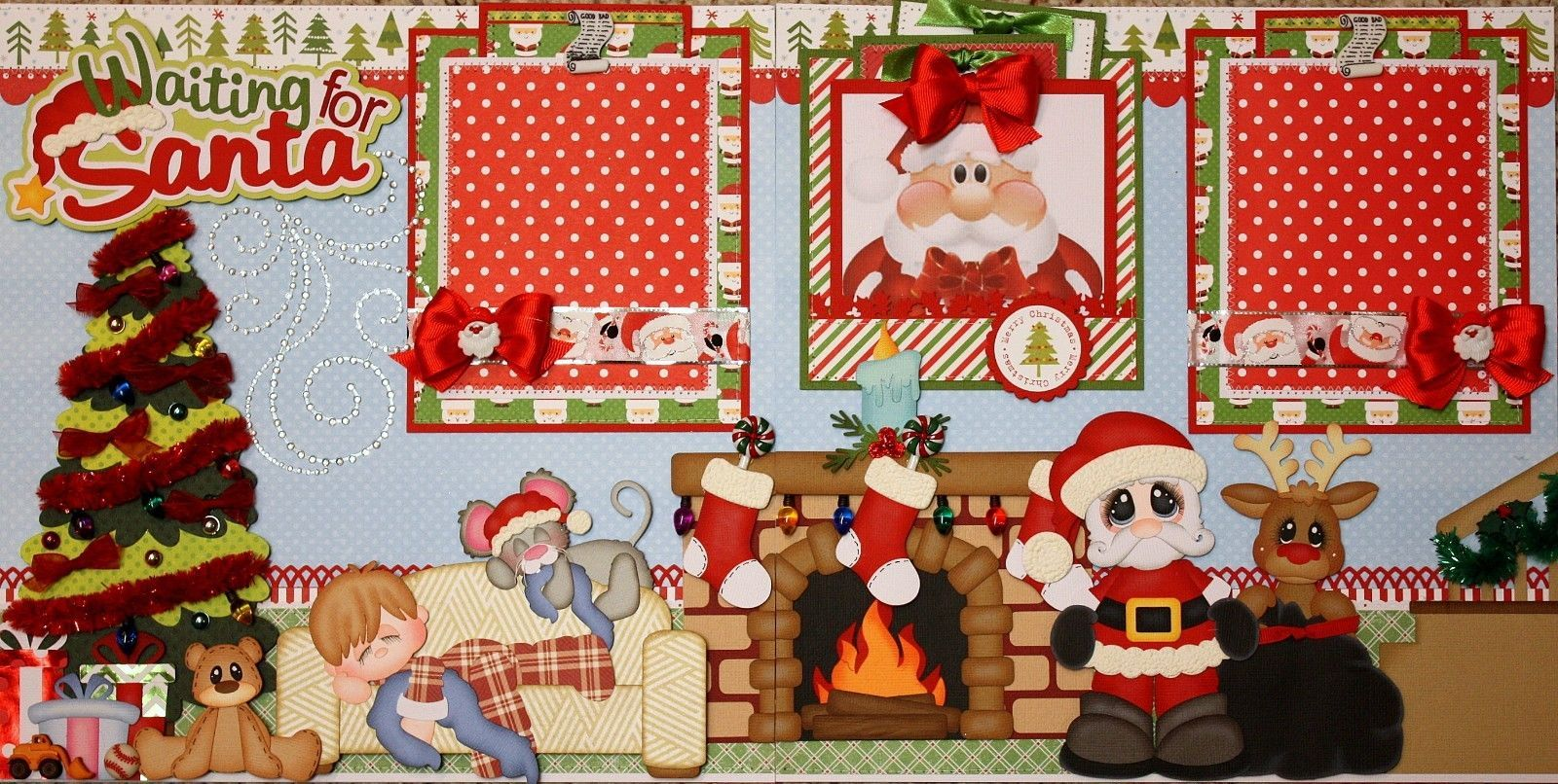 Christmas Day Scrapbook Embellishment Die Cut Card making Piecing