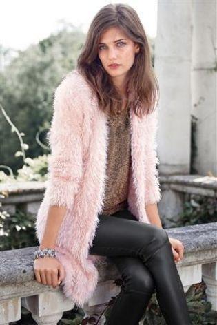 Buy Longline Faux Fur Cardigan from the Next UK online shop ...