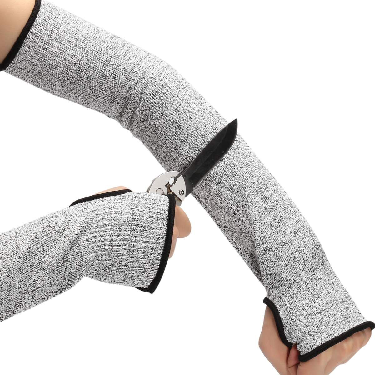 New Grey Safety Cut Heat-Resistant Sleeves Arm Guard Protection Armband Gloves
