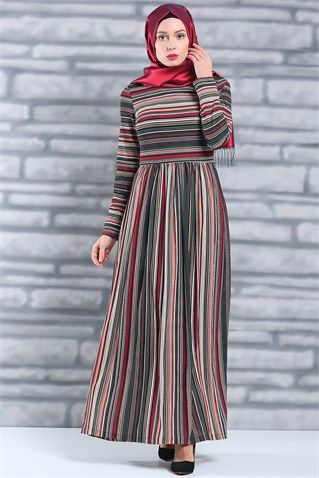 0addd6f2b1410 Tesettür Giyim Elbise, Tesettür Elbise Modelleri En Ucuz Fiyatlara En  Kaliteli Ürünler Moda Sevinç'de ModaSevinç, 39,9 TL, Bisiklet Yaka Çizgi  Desenli ...