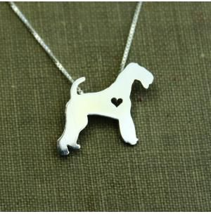 Airedale Terrier Itty Bitty Sterling Silver Necklace Dog Park