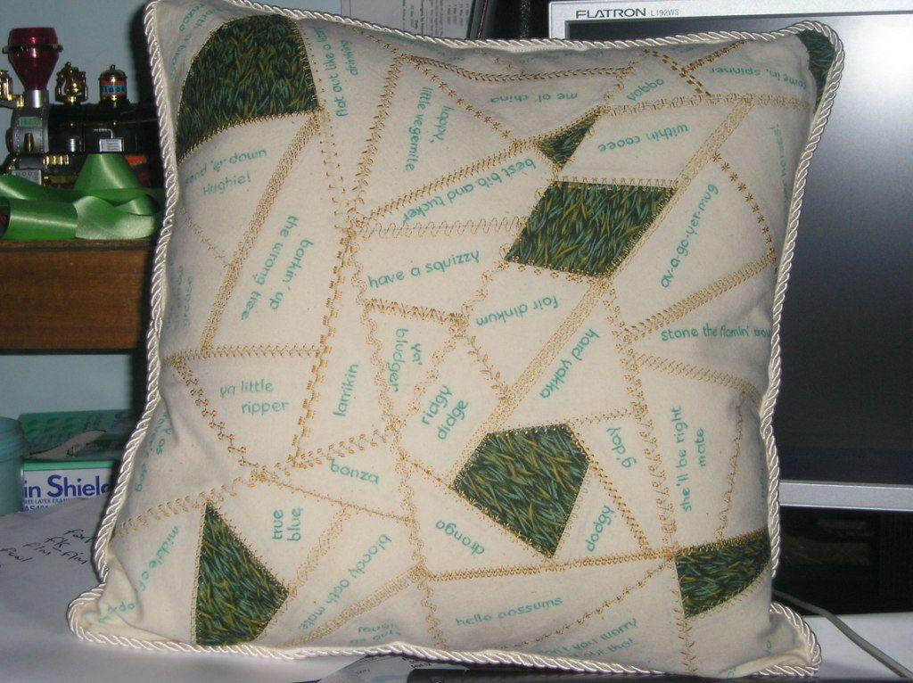 Australiana Cushion for challenge at Bli Bli Quilting Group