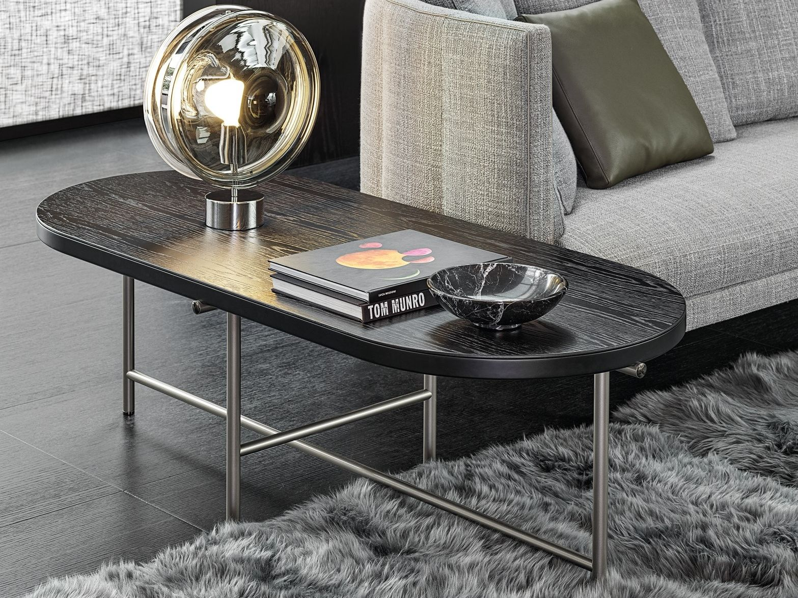 Torii Oval Coffee Table By Minotti Design Nendo In 2020 Oval Coffee Tables Living Room Table Coffee Table