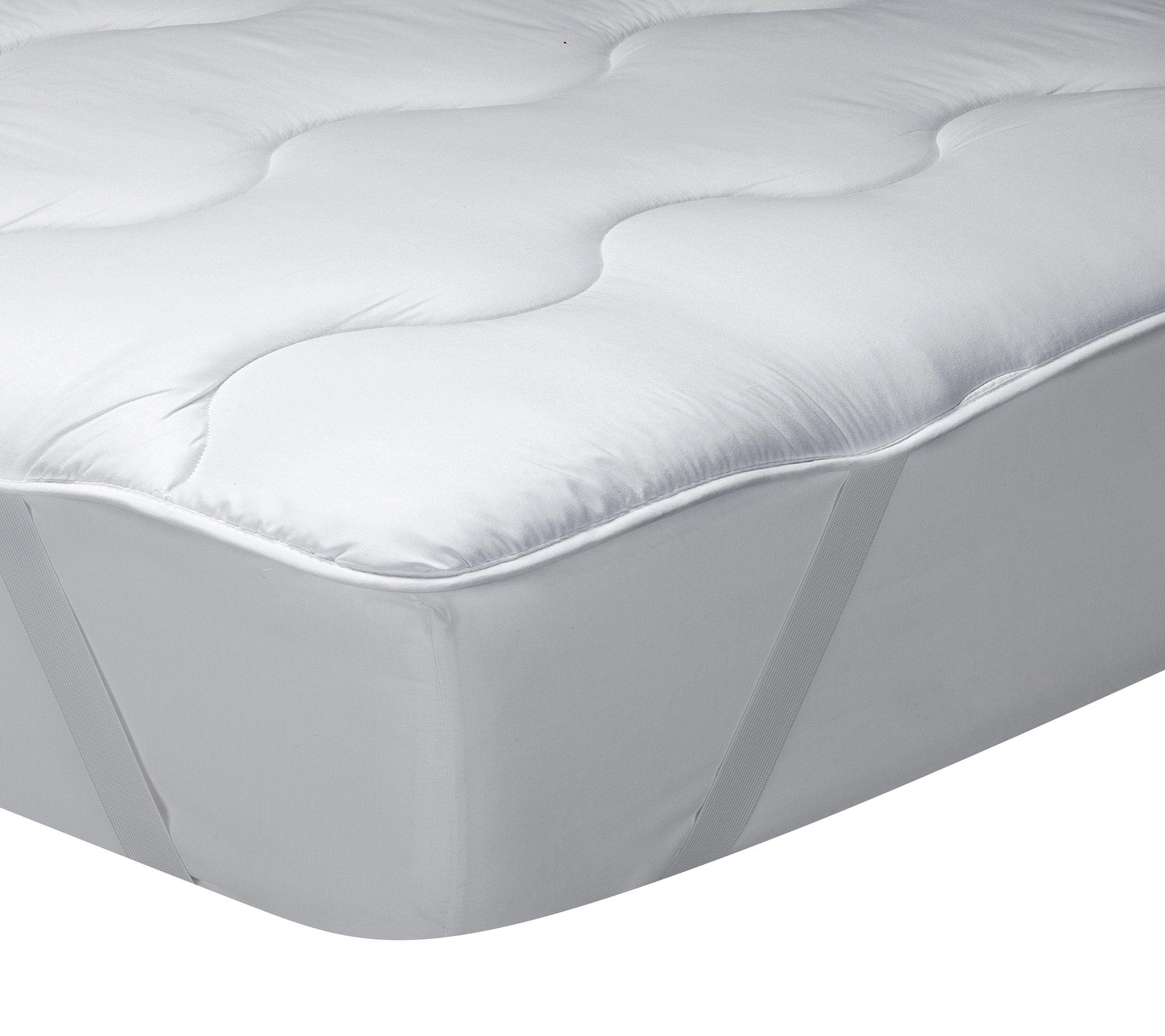 Classic Blanc Surmatelas En Fibre Hypoallergenique Confort Medium Ferme Epaisseur 3cm 135x190 Cm Lit 135 En 2020 Surmatelas Lit Blanc