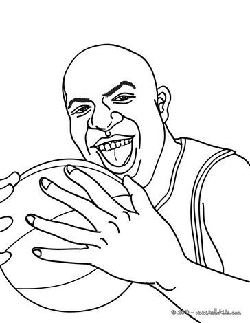 Magic Johnson Coloring Page More Sports Coloring Pages On