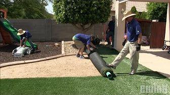 Ewing Irrigation Youtube Installing Artificial Turf Artificial Grass Installation Artificial Grass Backyard