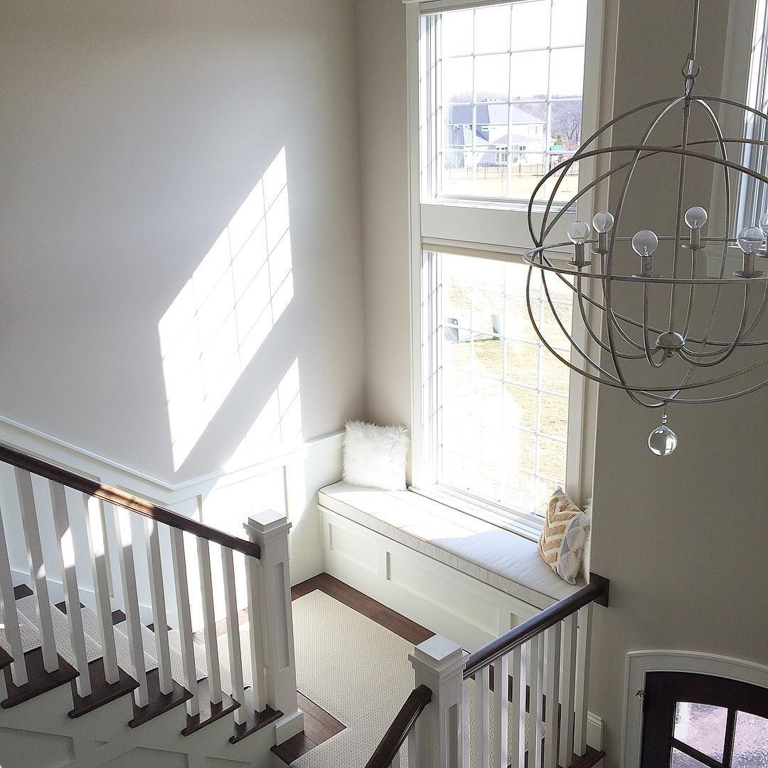 Best Sunny Stair Landing Window Seat Home Stairs Design 400 x 300