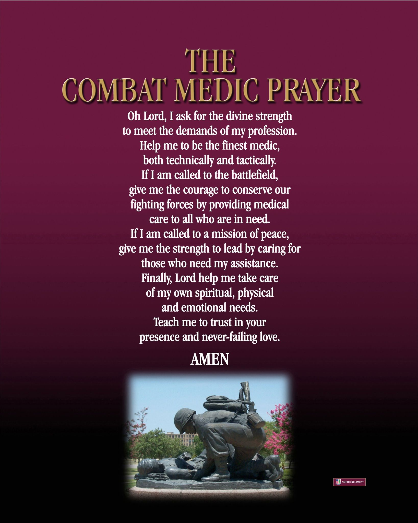 Medics prayer