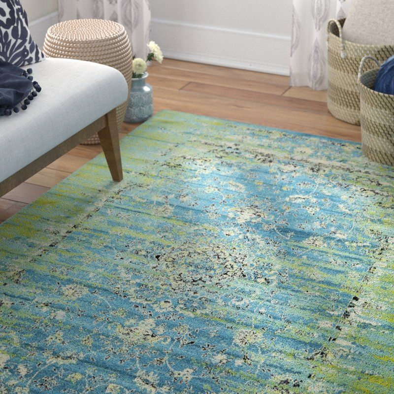 Neuilly Oriental Blue Green Area Rug Area Rugs Light Blue Area