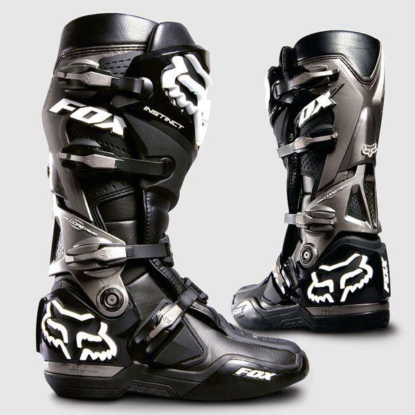 9f2ca910097f Fox Instinct Motocross Boots Black