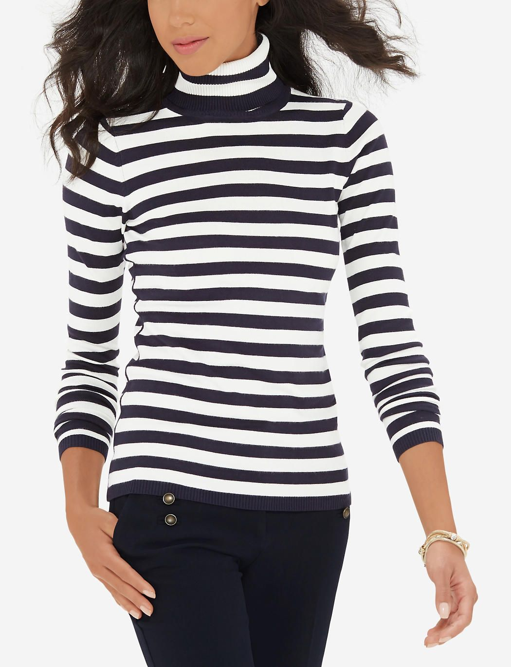 Striped Turtleneck Sweater | Women's Sweaters & Cardigans | THE ...