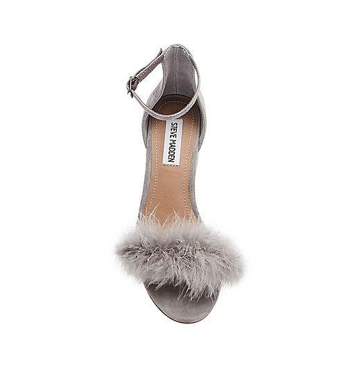 bb32d435700 Steve Madden Imelda Fluffy Feather Heel - UNDER  100