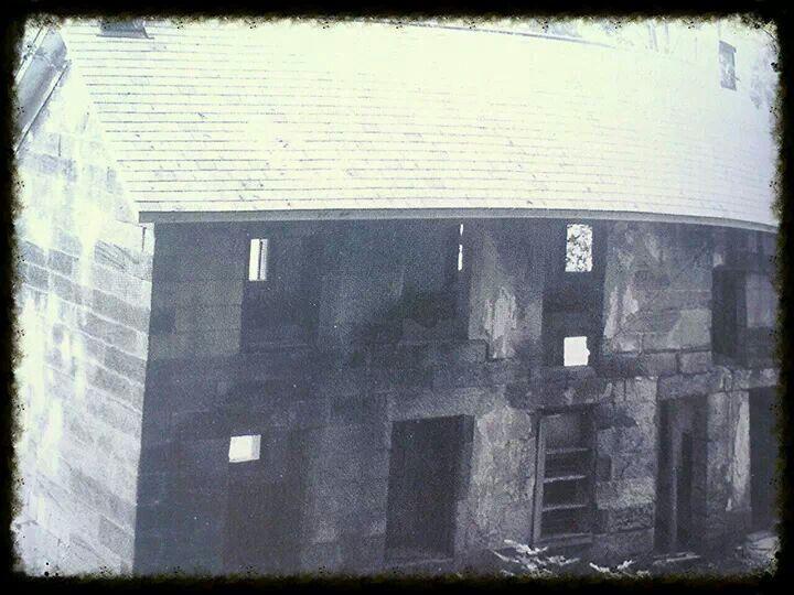 Kennedy Stone House (Salt Fork State Park) before restoration.