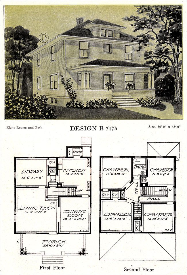 Modern American Homes Classic Foursquare C L Bowes 1918