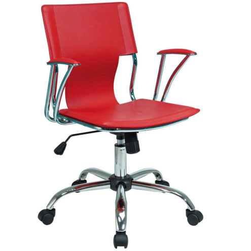 Inexpensive Office Chairs Red Comfortable Design Look Durable