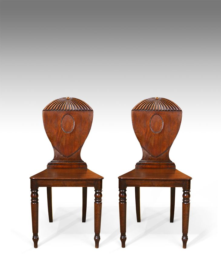 Strange Pair Of Georgian Hall Chairs Antique Dining Machost Co Dining Chair Design Ideas Machostcouk