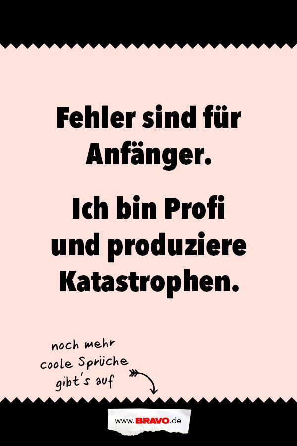 Noch mehr witzige Sprüche gibt's auf www.bravo.de! #funnyfails