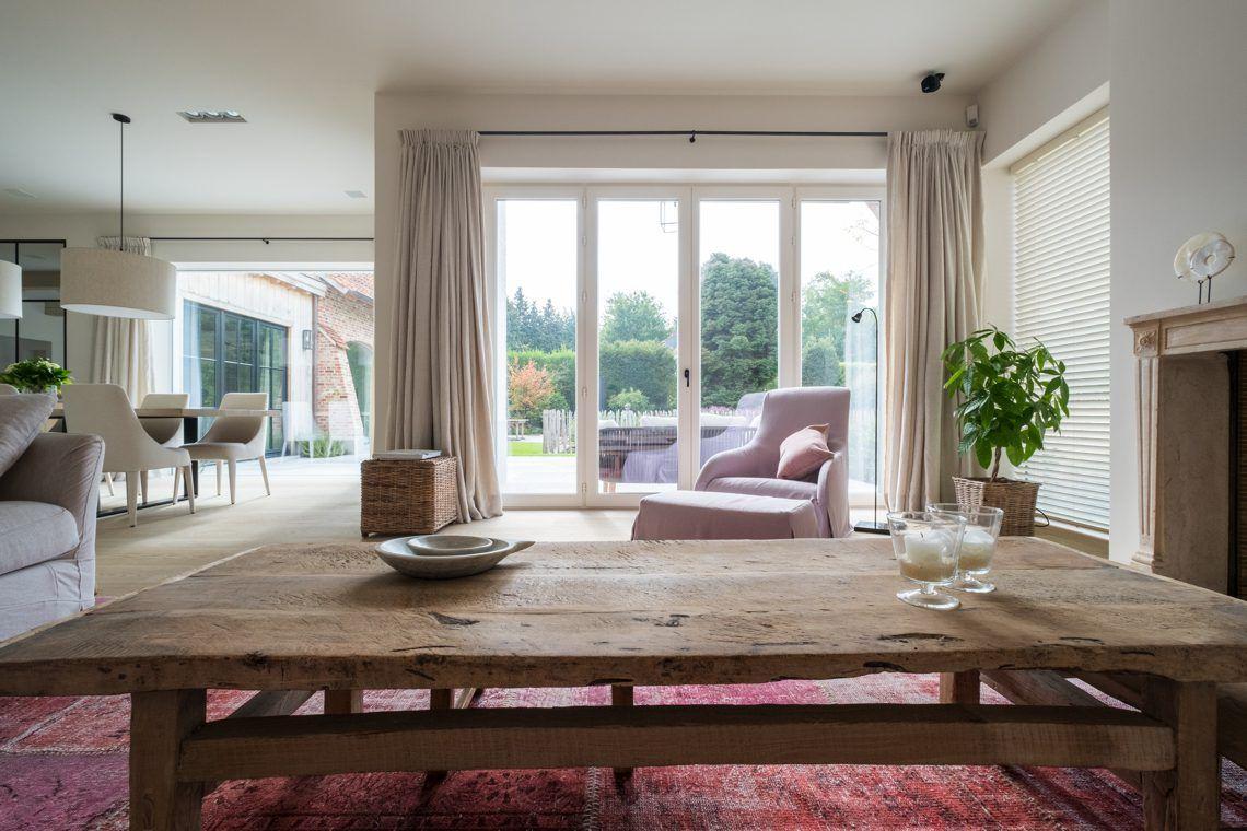 Landelijke Villa Inrichting : Strak landelijke inrichting villa salon pinterest doors tuin