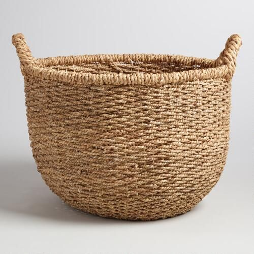 Natural Hyacinth Sabina Tote Basket & Natural Hyacinth Sabina Tote Basket | Storage Decorative storage ...