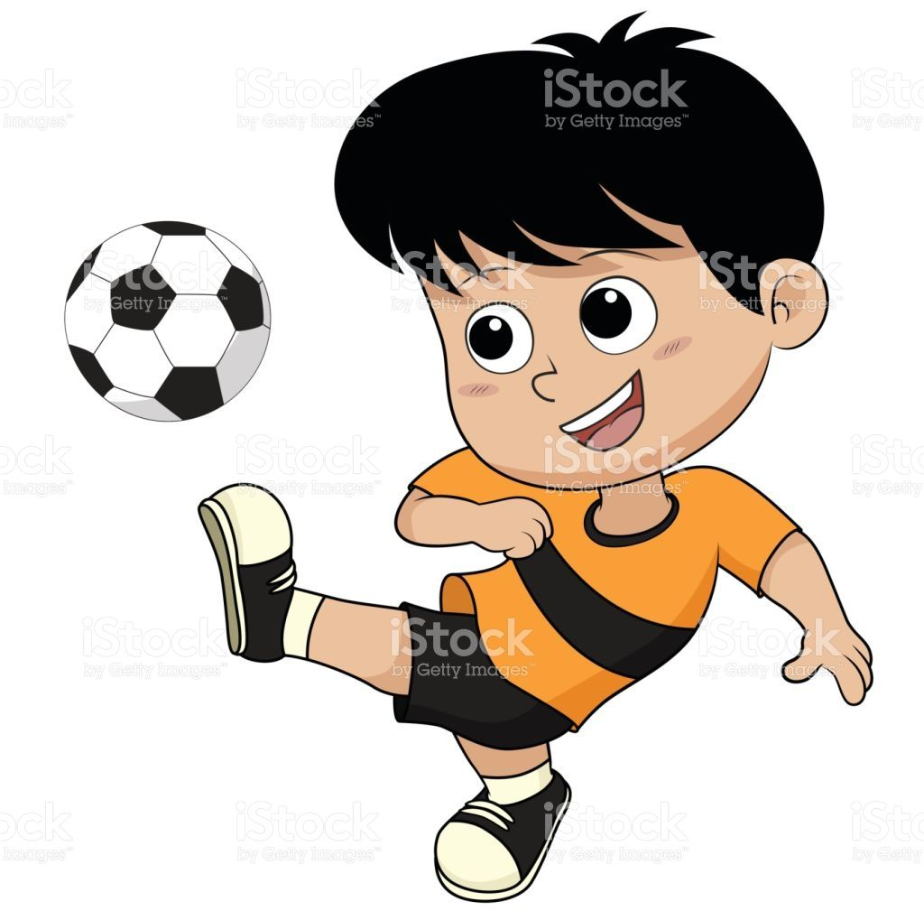Cartoon Soccer Kid Vector And Illustration Kids Vector Kids Soccer Kids Stock