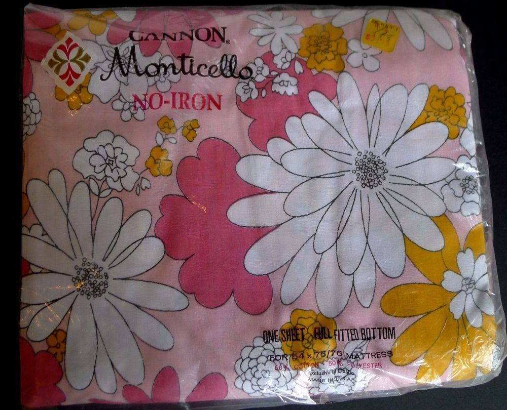 Cannon monticello full fitted bottom sheet blossom