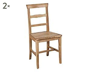 Set di 2 sedie in faggio Michela naturale - 45x92x43 cm